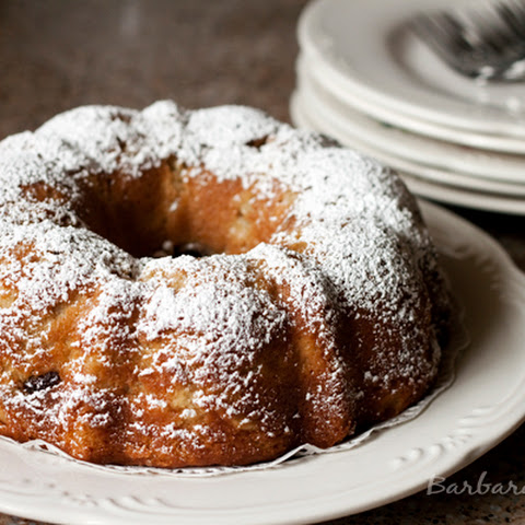 Brown Sugar Pear and Cherry Bundt Cake