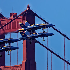 Blue Angels 808 by Raphael RaCcoon - Transportation Airplanes ( blue angels )