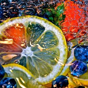 colors of joy by Diana Margan - Food & Drink Fruits & Vegetables ( fruit, food, colors, bubbles, lemon )