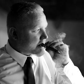 Cigar by Lood Goosen (LWG Photo) - Wedding Groom ( cigar, wedding photography, wedding, weddings, wedding day, wedding photographer, groom )