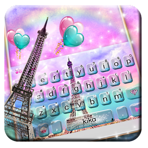 Dreamy Eiffel Tower Keyboard Theme