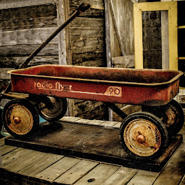 Vintage Radio Flyer by Christy Stanford - Artistic Objects Antiques ( old, toy, vintage, wagon, rusty, rust )
