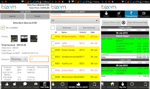 Bizom - screenshot