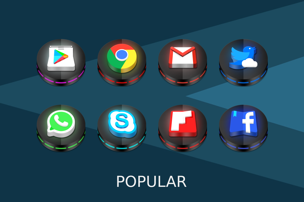 Neon 3D icon Pack Screenshot 8