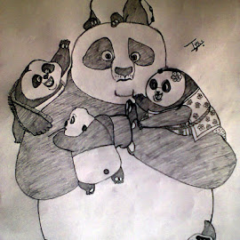 My recent drawing! #KungFuPanda! <3 ;-) :-P chow-chow, chi-chi-chi,cha-cha! :-D :-D :-D :-* by Tejas SHinde - Drawing All Drawing
