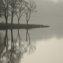 melancholy by Oleg Mikheev - Landscapes Weather ( melancholy, tranquil, relax, twilight, tranquility, relaxing, waterscapes )