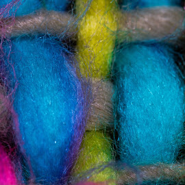 Wool by Nigel Bishton - Abstract Macro ( colour, macro, sharp, wool,  )