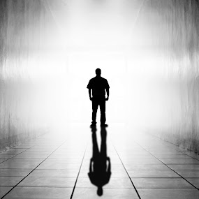 Hallway by Wilfredo Lumagbas - People Fine Art ( shadow, hallway, man )