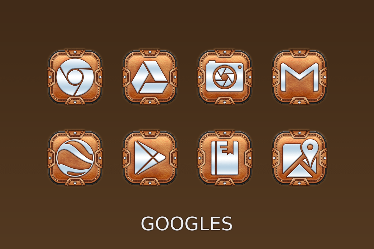 Leather Pouch-Icon Pack Screenshot