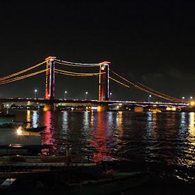 Ampera Bridge,Palembang by Prasetya Blue yaris - Buildings & Architecture Bridges & Suspended Structures