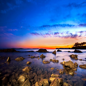 Tranquility  by Ivana Miletic - Backgrounds Nature ( sunset, long exposure, quiet, beach, ivana miletic, sea )