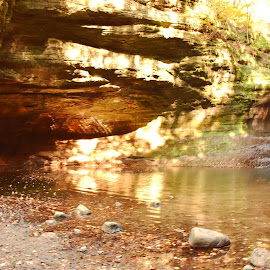 Waterfall by Brittany Stayton - Landscapes Caves & Formations ( illinois, waterfall, canyon, mathiessen, hiking )