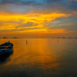 Golden sunrise by MazLoy Husada - Landscapes Sunsets & Sunrises