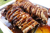 Pork Loin Carved to perfection - By The London Hog Roast Company