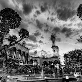 Jame' Asr by Mohamad Sa'at Haji Mokim - Buildings & Architecture Places of Worship ( black and white, pwcbuilding )