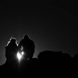 Pure love by Zoltán Mészáros - People Couples ( love, pure, black and white, couple, couples )