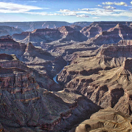 Grand. Canyon. by Ty Shults - Landscapes Deserts ( huge, water, clouds, tourist, grand, formations, canyon, lake, big, large, grand canyon )