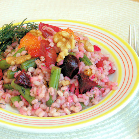 Barley Salad With Green Beans, Beets and Pickled Onion