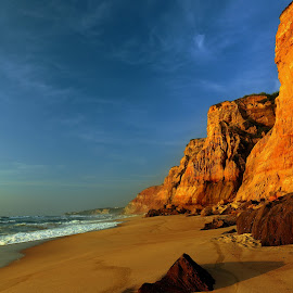 Cliffs by the sea by Gil Reis - Landscapes Beaches ( seas, nature, portugal, colors, life, summer )