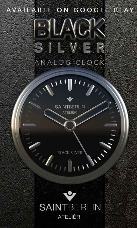 Black Digital Clock Widget Screenshot 3