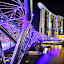 Extreme Bridge Helix by Irwansyah St - City,  Street & Park  Skylines ( bridge, nightshoot, singapore, pwcskylines, city, landmark, travel )