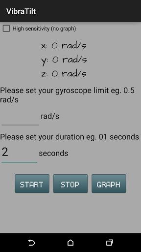 VibraTilt - Accel & Gyro App Screenshot