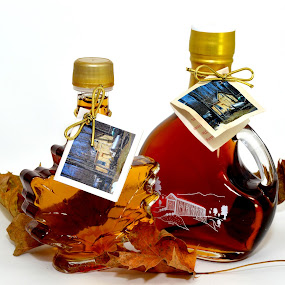 Maple Syrup by John Ogden - Food & Drink Ingredients ( maple syrup, maple leaves, products, closeup, maple )
