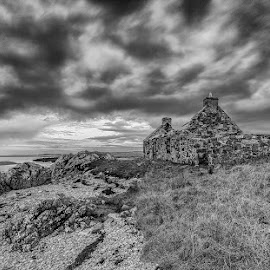 Islay ruin by Ian Pinn - Landscapes Cloud Formations ( clouds, scotland, islay, sky, ruin, long exposure, hebrides, house )