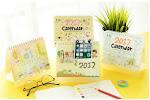 2017 Custom Table Calendar And Desk Calendar Printing Factory Wholesale Calendar Printing
