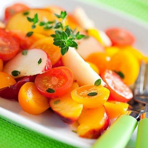 Salad Of Peaches And Tomatoes