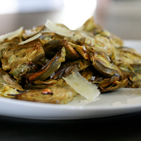 Roasted Baby Artichokes with Lemon and Pecorino