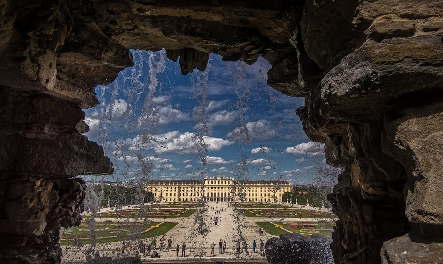 Schönbrunn Palace by Ole Steffensen - Buildings & Architecture Public & Historical ( fountain, schönbrunn palace, austria, wien, vienna, royal, architecture )