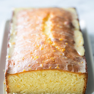 Almond Pound Cake with Orange Glaze