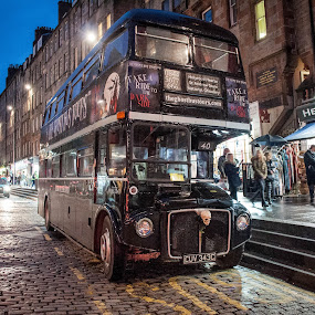 Edinburgh Bus by Derek Robinson - Transportation Other ( ghost bus edinburgh scotland streets )