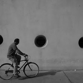 Bike by VAM Photography - People Street & Candids ( places, nyc, man, abstract, guggenheim, bike, architecture )