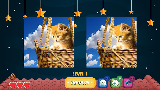Find The Five Differences Cats Edition