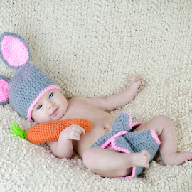Easter Bunny by Christina Smith - Babies & Children Toddlers ( bunny prop, child portrait, cute, toddler, twisted images photography )