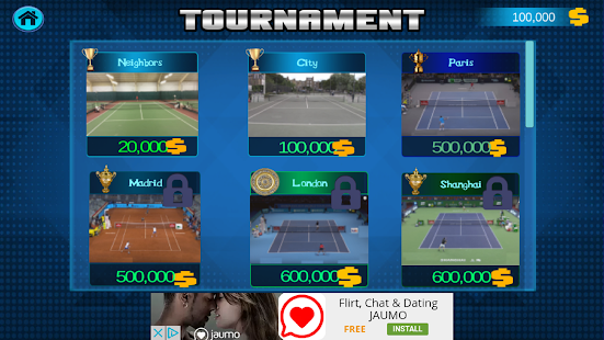 Real Tennis 2017 Free Screenshot