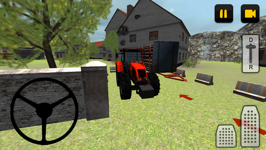 android Tractor 3D: Log Transport Screenshot 8