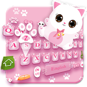 Free Download Pink Cat Lovely Keyboard APK for Samsung