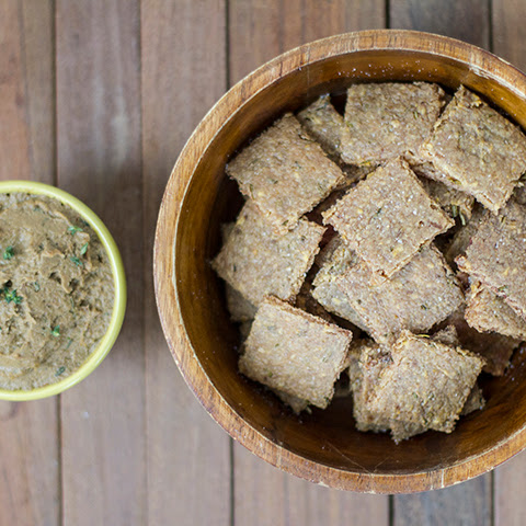 Garlic Rosemary Plantain Crackers