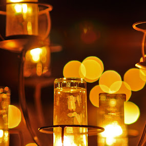 Dazzling Lights by Leonard Sani - Artistic Objects Other Objects ( dazzling, lights, candle, ambience, lamp, night, bokeh )
