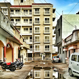 Reflection by Sandip Rajguru - Buildings & Architecture Architectural Detail ( water, building, reflection, architecture, refraction )