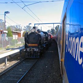 Old & new by Chrissy Almaraz - Transportation Trains