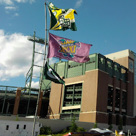 Packer Stadium Tailgate  by Debra Grosskopf - Buildings & Architecture Public & Historical
