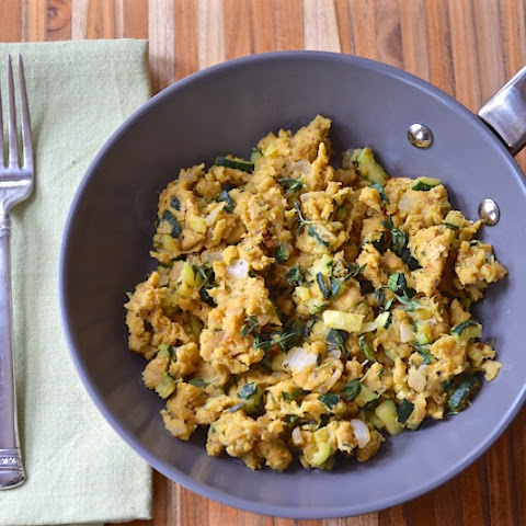 Chickpea Scramble with Zucchini and Thyme