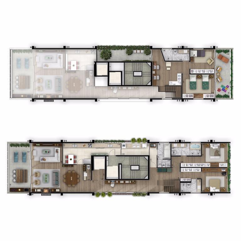 Planta Apto Tipo 10º andar - 330 m²