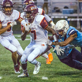 Punt Return by Elk Baiter - Sports & Fitness American and Canadian football ( wildcats, mountain view, high school, football, punt, varsity, sports, athlete )