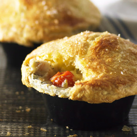 Leek, Tomato and Fish Pot Pies