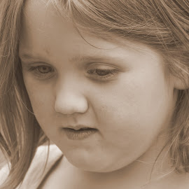 Deep in Thought by Pamm Smith - Babies & Children Toddlers ( girls, thinking, grandkids, toddler )